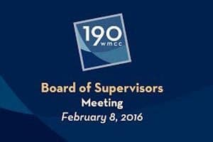 2/8: Board of Supervisors Meeting