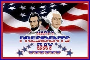 Solid Waste Collection Schedule for Presidents' Day