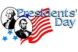 2/20: Presidents Day Holiday
