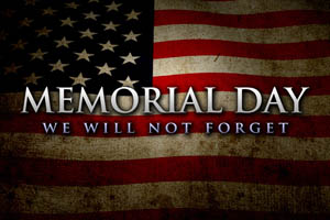 5/30: Memorial Day Observance