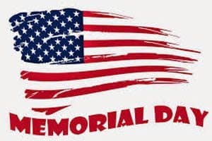 Town of Blacksburg Memorial Day closings and service changes
