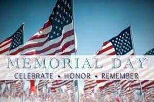 Memorial Day Schedules for the NRV