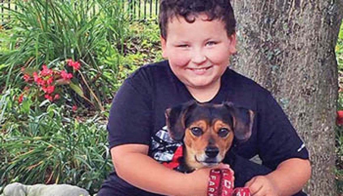 Child gains 'best friend' and lesson in paying it forward