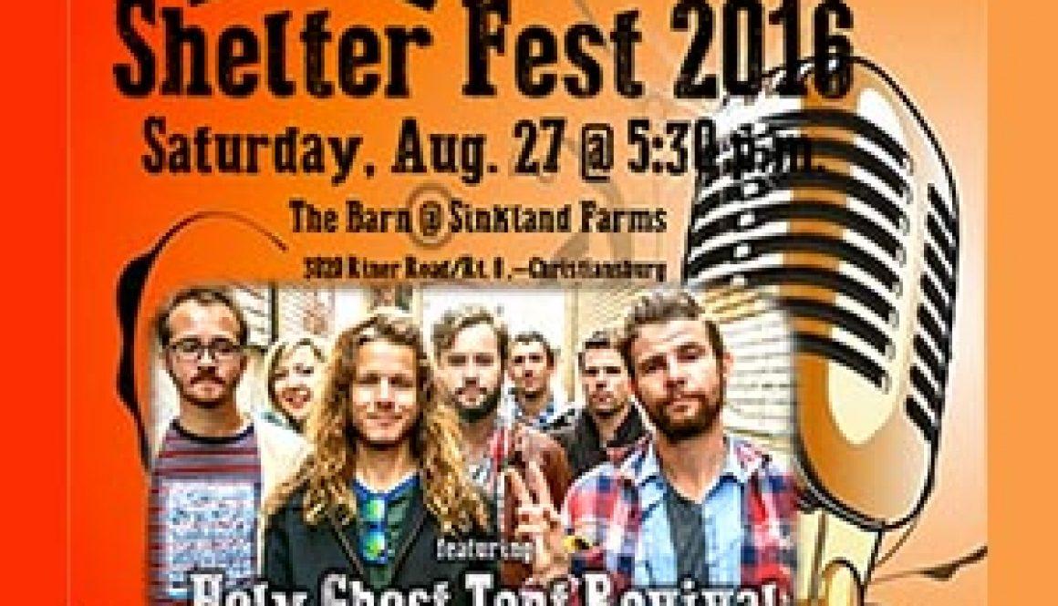 8/27: Shelter Fest 2016