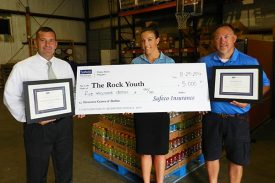Insurance Center of Dublin Gives $5,000 to Rock Youth Center
