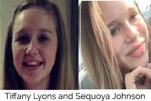 Two missing 13-year-old girls located