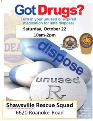 Police plan prescription take-back program for October 22