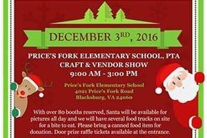 12/3: Winter PTA Craft Show