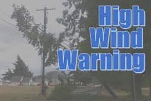 High Wind Warnings in Effect