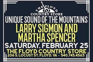 2/25: Larry Sigmon & Martha Spencer