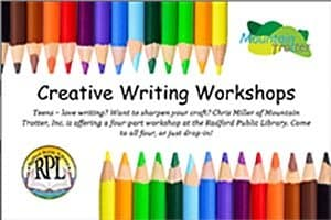 3/27: Creative Writing Workshop for teens