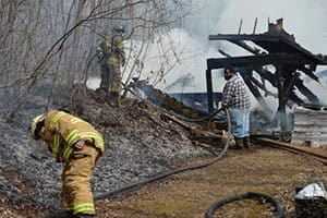 Fire destroys home in Floyd