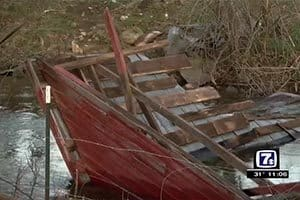 Storm winds destroy historic Giles County covered bridge
