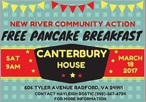 3/18: NRCA Pancake Breakfast