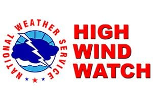 High Wind Watch in Effect