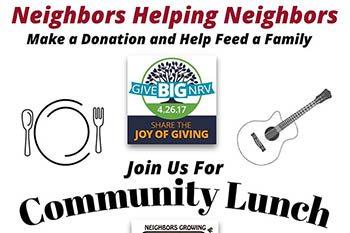 GiveBigNRV: Plenty's Community Lunch