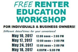 Free Renter Education Workshop