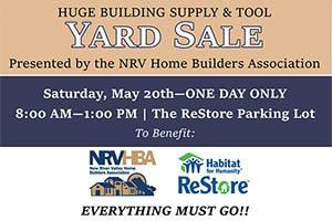 5/20: NRVHB Yard Sale