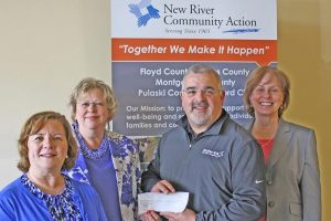 Linda Pearrell, Human Resources Manager, Orbital ATK, New River Energetics; Glenda Vest, Community Services Programs Director, NRCA; Anthony Miano, General Manager, Orbital ATK, New River Energetics; and Terry Smusz, CEO, New River Community Action.