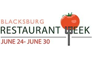 6/24-30: Blacksburg Restaurant Week