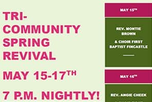 5/15-17: Tri-Community Spring Revival