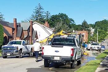 Pulaski waterline break repaired
