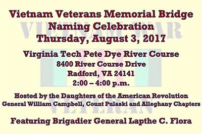 8/3: Vietnam Veterans Memorial Bridge Ceremony