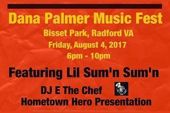 8/4: Dana Palmer Music Fest