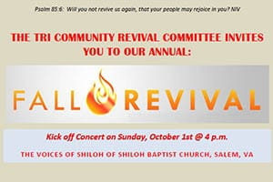 10/1-5: Tri-Community Revival