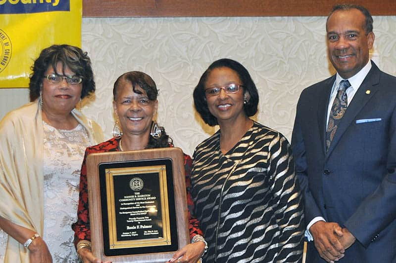 Nannie B. Hairston Award winner, Roxie Palmer (l-r: Dy-Anne Penn, Roxie Palmer, Deborah Travis, and N.L. Bishop). (Photo by Larry Middleton)