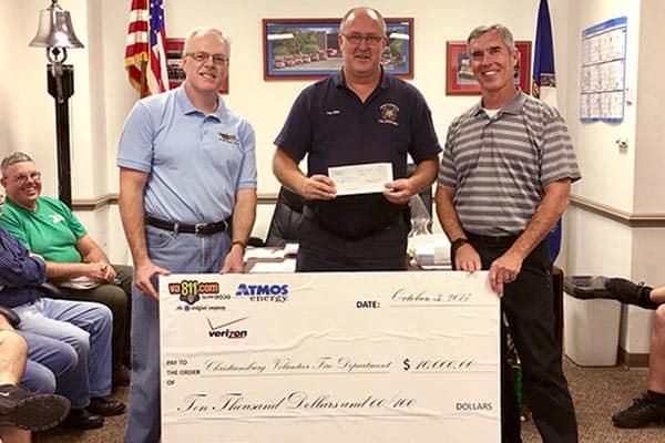 Christiansburg Fire Dept receives Atmos Energy donation