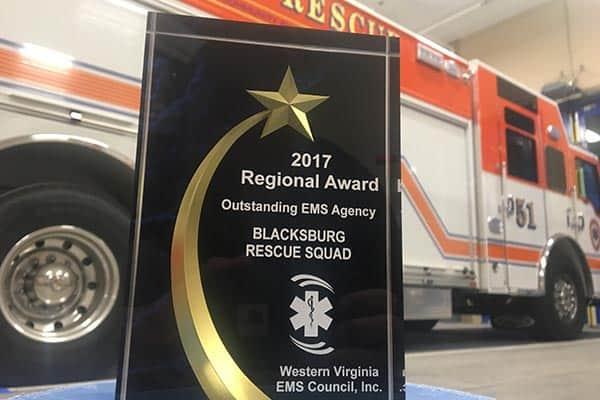 Blacksburg Rescue Squad nominated for EMS Awards