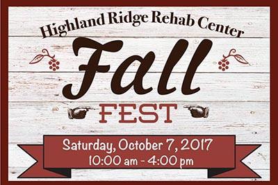 10/7: Highland Ridge Rehab Fall Fest