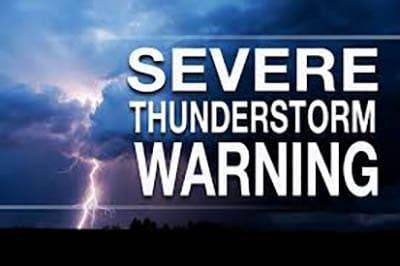 Severe Thunderstorm Warning until 7:15 PM