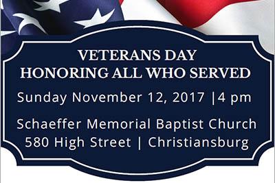 11/12: Veterans Day Commemoration
