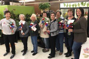 Beverly Bridges, Lynda Kinzey, Cathy DeHart, Wades Floral Manager Susan Reece, Rosemary Jones, Nola Elliott, Theresa Lovern, and RSVP Coordinator Mandy Hayes