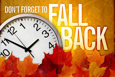 Set your clocks back an hour tonight