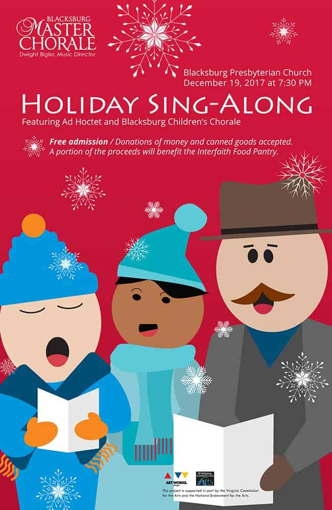 12 19 holiday sing along nrvnews for Interfaith food pantry blacksburg