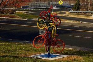 Bike Art, bridge shot