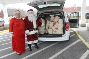 Santa Mrs Claus with RSVP van 2017
