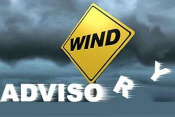 Wind advisory in effect from 6 pm to noon tomorrow