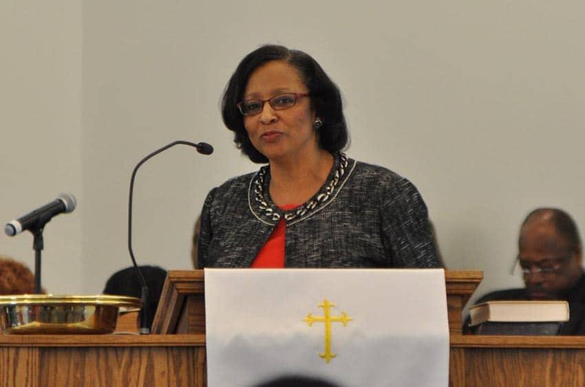 Secretary Debbie Travis (photo courtesy of Larry Middleton)