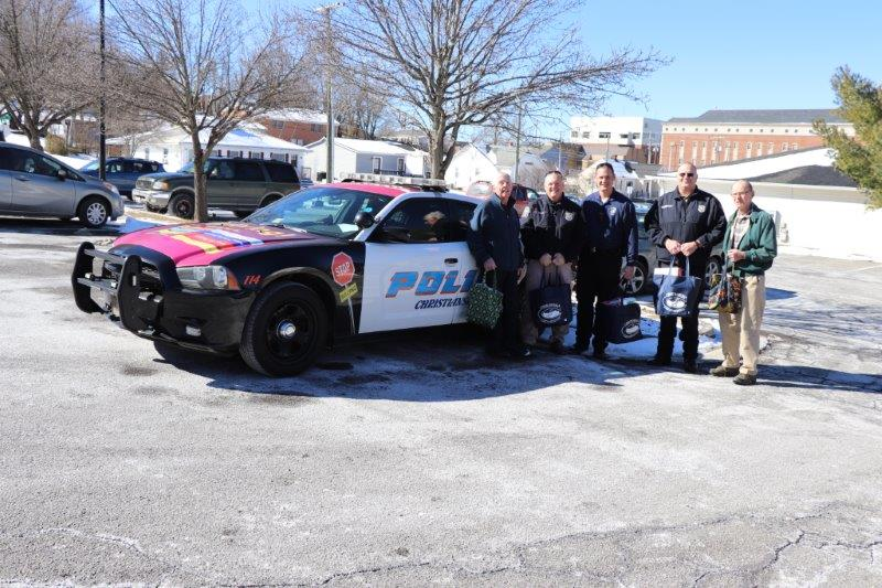 Christiansburg Police Department helping with delivery