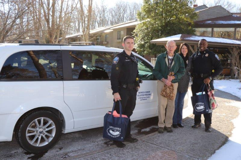 Blacksburg Police Department helping with delivery