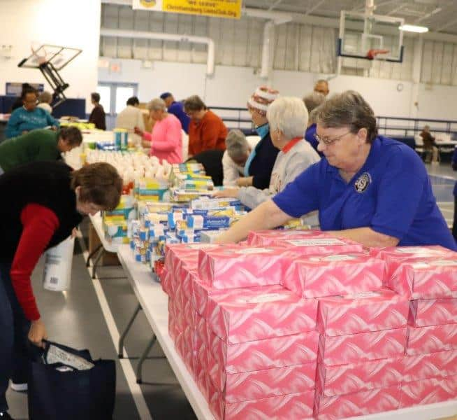 Sorting at the Christiansburg Recreation Center