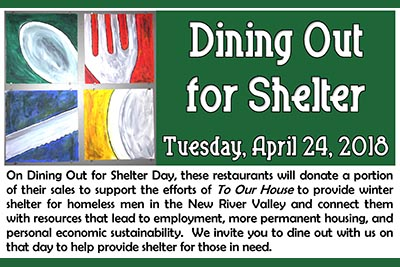 2018 Dining Out for Shelter
