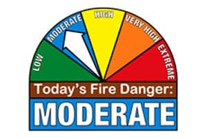 Elevated Risk for Wildfires Today