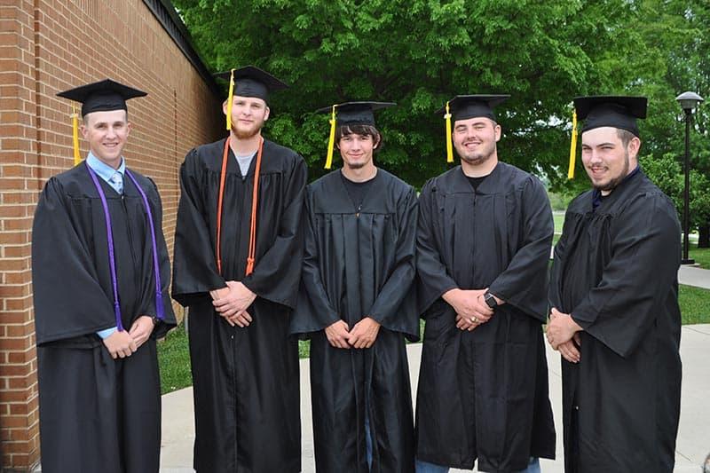 FLOYD COUNTY:From left: Matt Vest, Wyatt Bolt, Devan Weeks, Brady Dale Harman, Dillon Harris