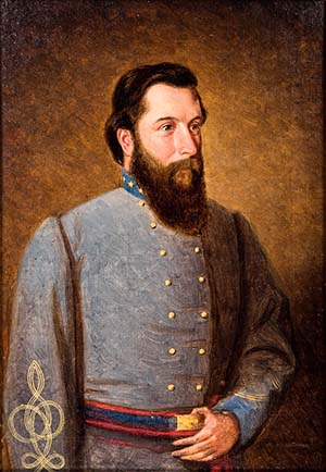 Painting of Gen. Gabriel C. Wharton produced during the Civil War by artist William D. Washington. Courtesy Sue Bell.