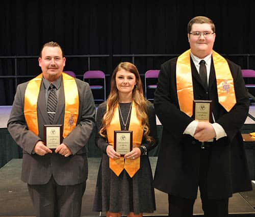 Floyd County: From left, Joshua Wayman Burnette, Laken Quesenberry and David Jungmann.
